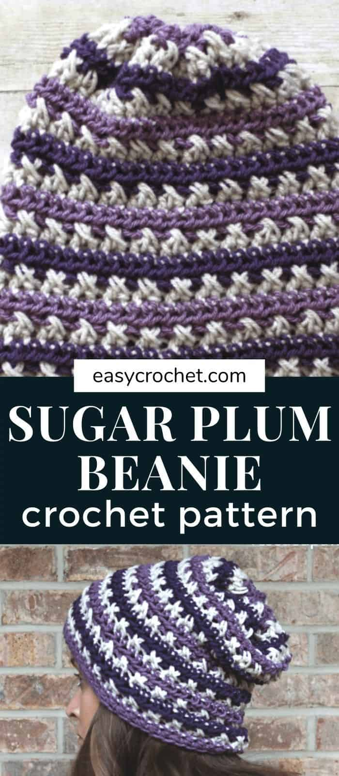 Learn how to crochet a slouch beanie with this free crochet pattern from Easy Crochet. via @easycrochetcom