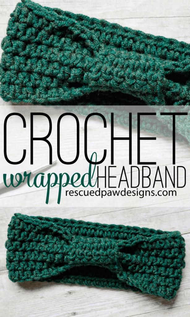 Crochet Wrapped Headband Pattern - Rescued Paw Designs