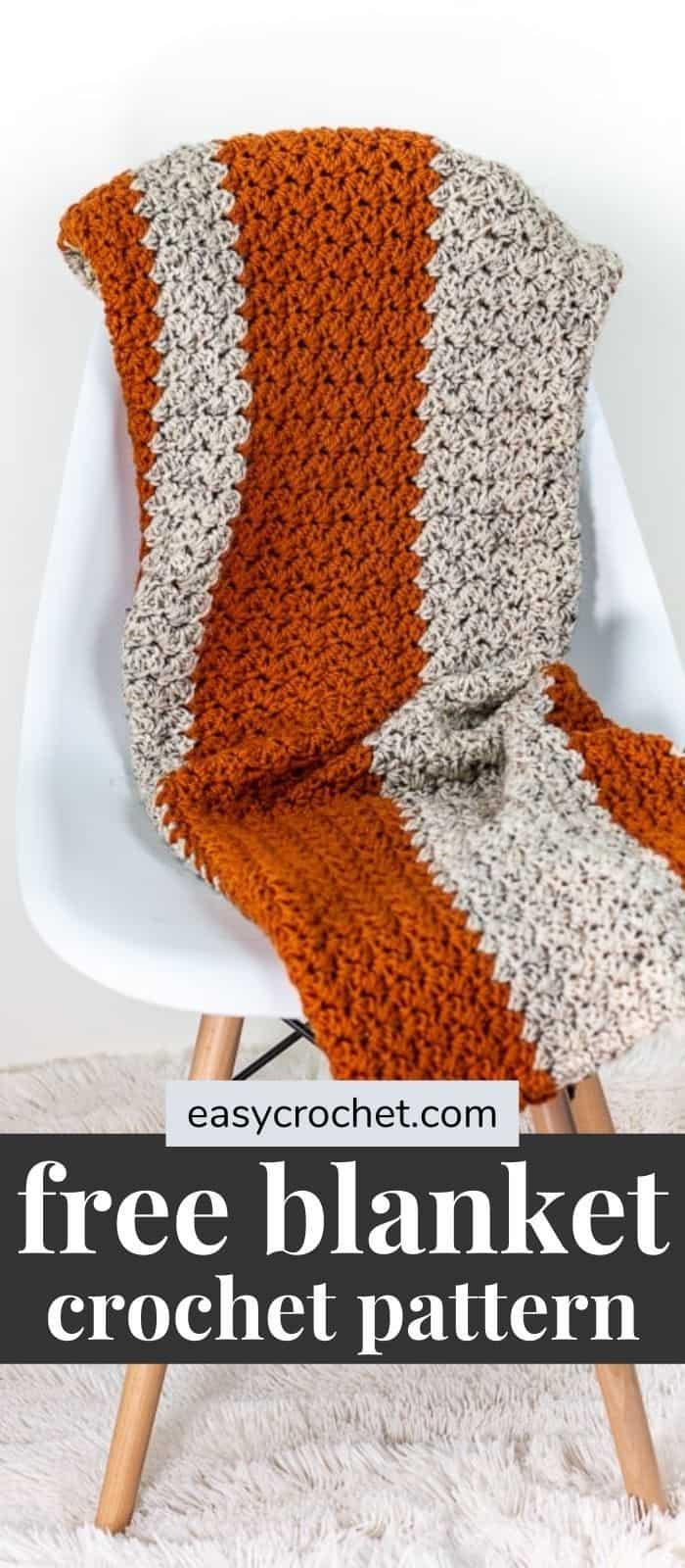 Fall Pumpkin Blanket Crochet Pattern via @easycrochetcom