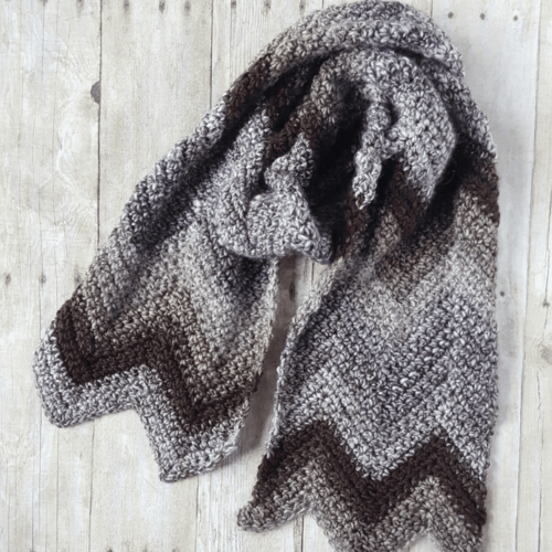 Crochet Chevron Scarf Pattern