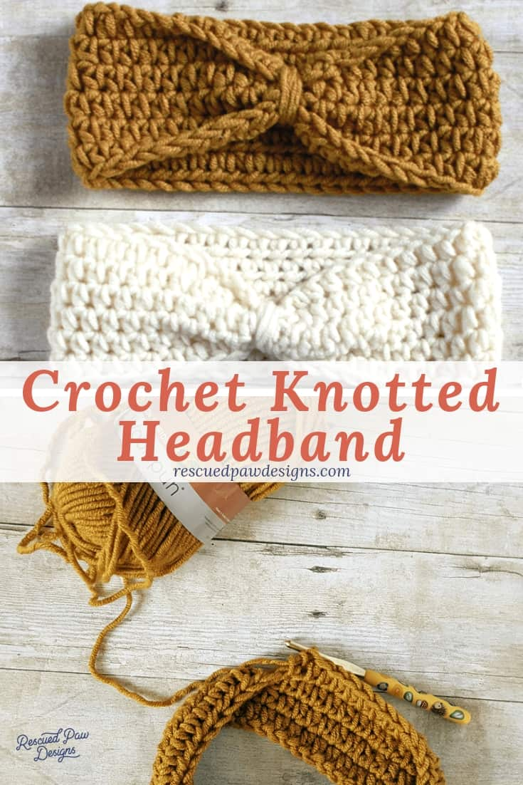 Free Knotted Headband Crochet Pattern from Easy Crochet! Click to Make Now or PIn to Save for Later!