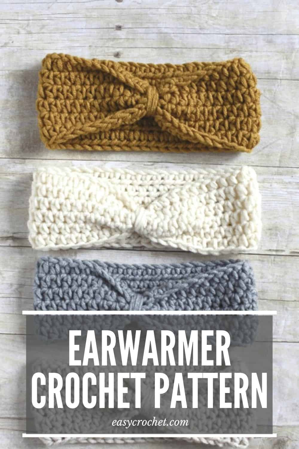Knotted Ear Warmer Crochet Pattern via @easycrochetcom