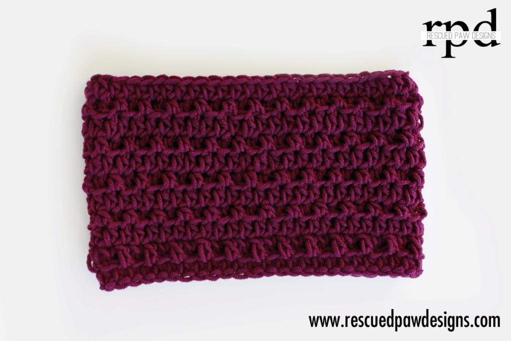 Simple Textured Cowl - Crochet Pattern by Rescued Paw Designs