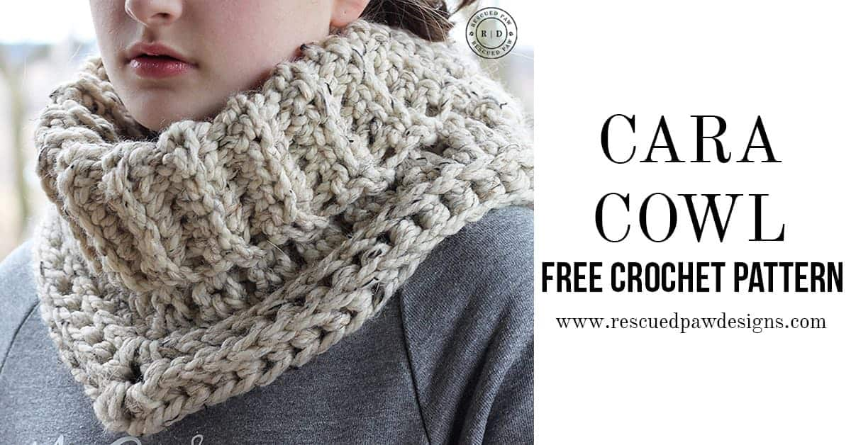 Easy Crochet Cowl Pattern Rescued Paw Designs Crochet