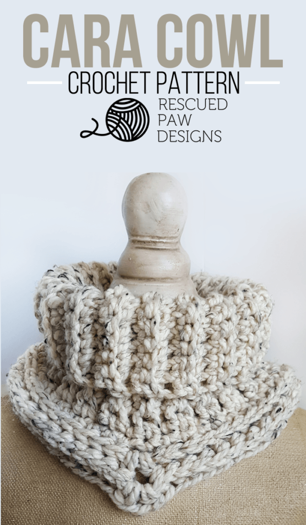 Easy Crochet Cowl Pattern - Textured Crochet Cowl - Simple Crochet Scarf