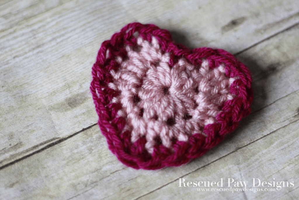 Small Free Crochet Heart Pattern