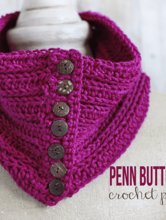Crochet Button Cowl Pattern -The Penn