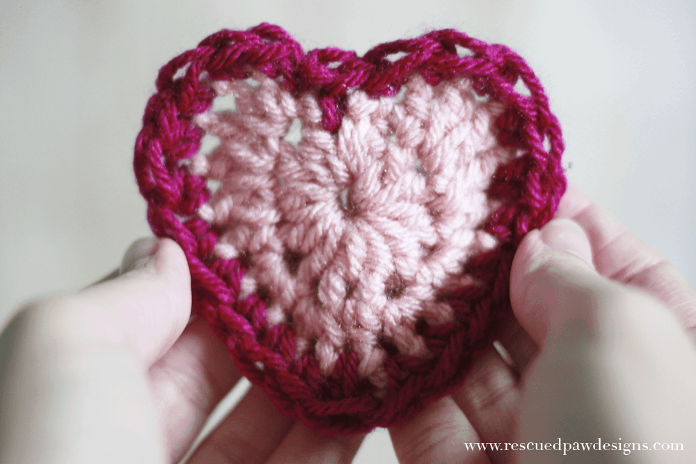 Quick Crochet Heart Pattern by Rescued Paw Designs