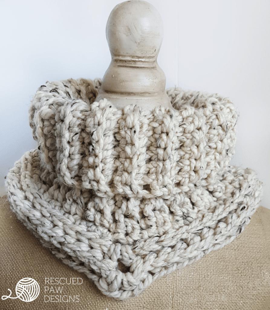 Cara Cowl Crochet Pattern in Spanish - CUELLO CARA – Patrón de crochet libre - Easy Crochet