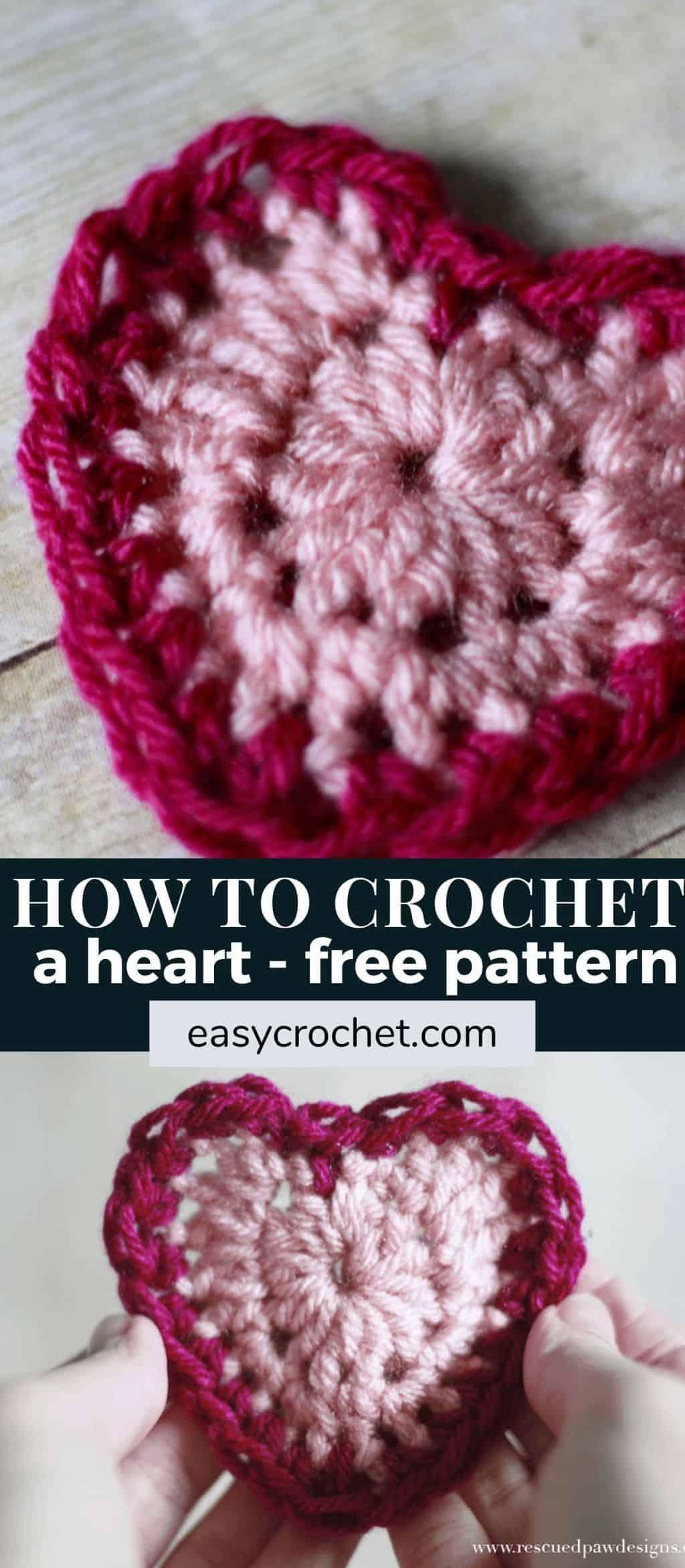 learn how to crochet a heart via @easycrochetcom