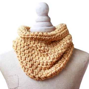 quick One hour cowl pattern