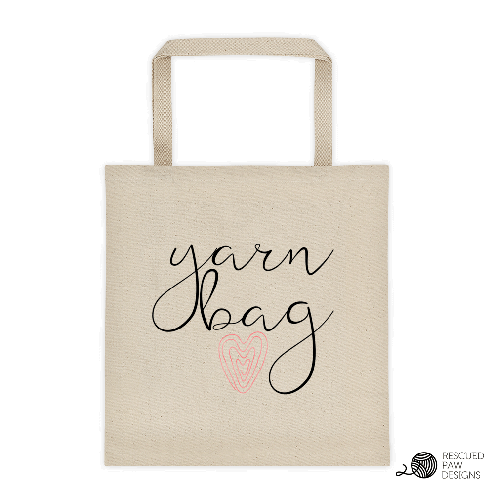Yarn Tote Bag & Coffee Mug From Rescued Paw Designs