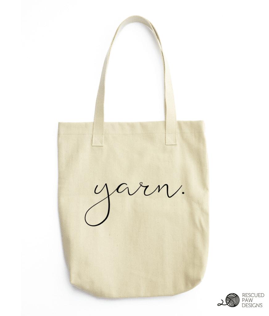 Yarn Tote - Project Bag - Gift - Crochet - Knit - by Easy Crochet Crochet Patterns, Project Totes & a Dream Crochet Day - Easy Crochet