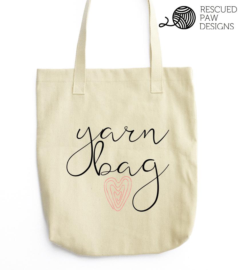 Yarn Heart Tote Bag - Project Organizer - Easy CrochetCrochet Patterns, Project Totes & a Dream Crochet Day - Easy Crochet