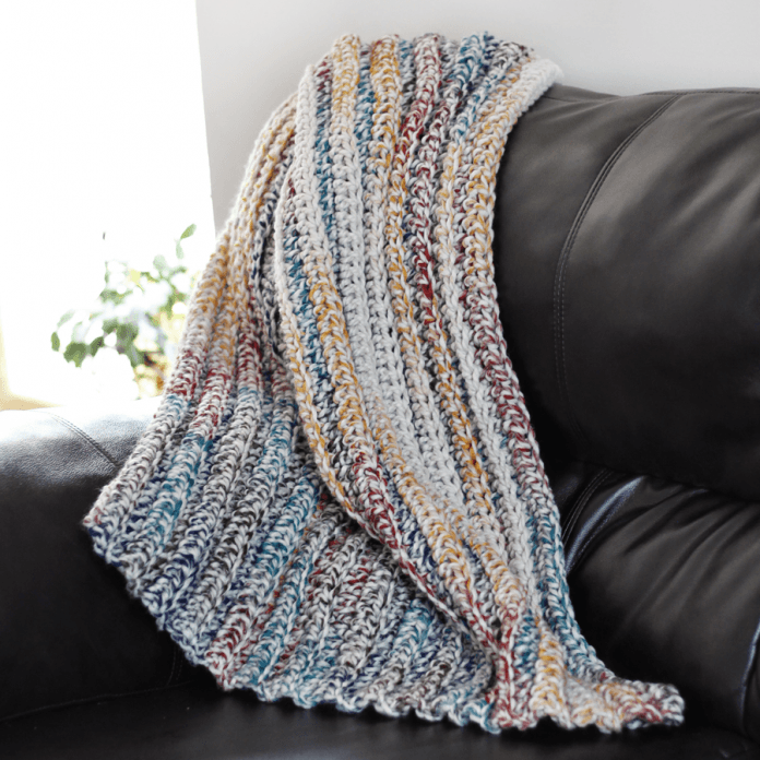 Chunky Throw Crochet Blanket