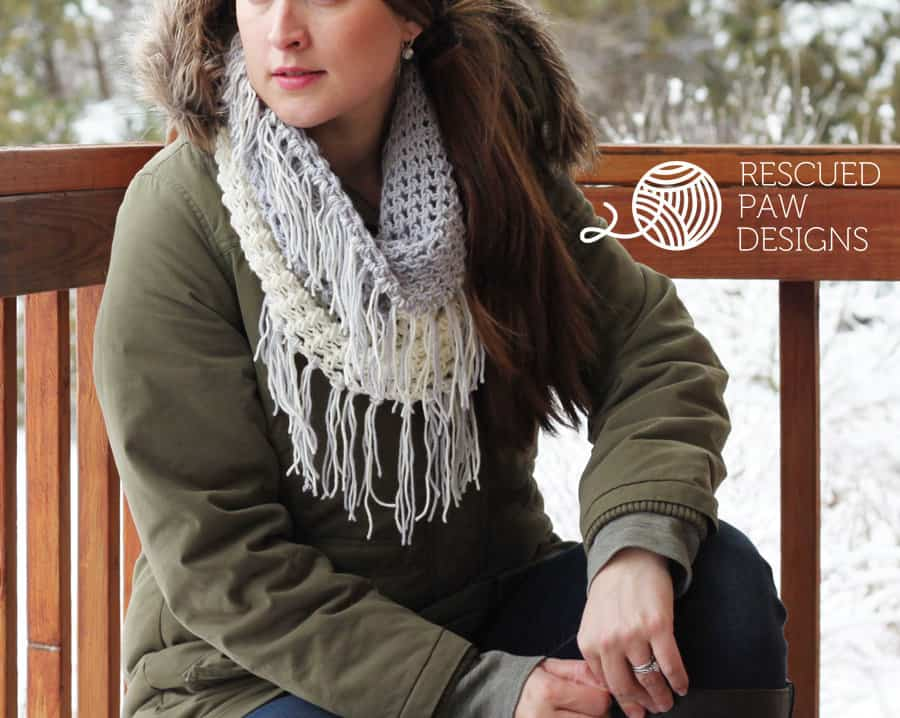 Crochet Cowl Pattern the Gracelyn Cowl A Color Blocked Pattern by Rescued Paw Designs