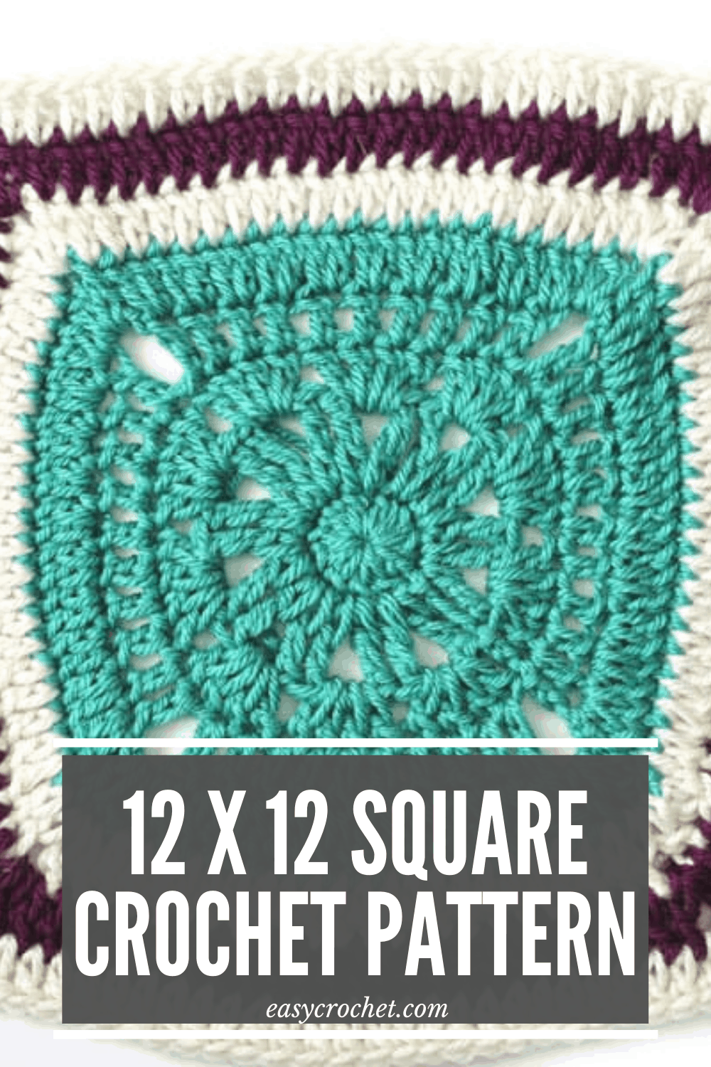 Crochet Blanket Square via @easycrochetcom