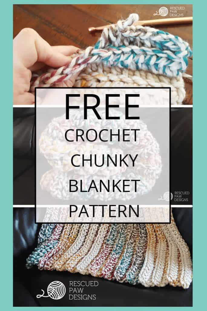 Easy Chunky Yarn Crochet Blanket