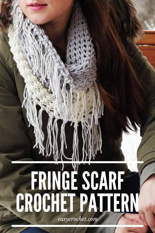 Fringe Scarf Crochet Pattern via @easycrochetcom