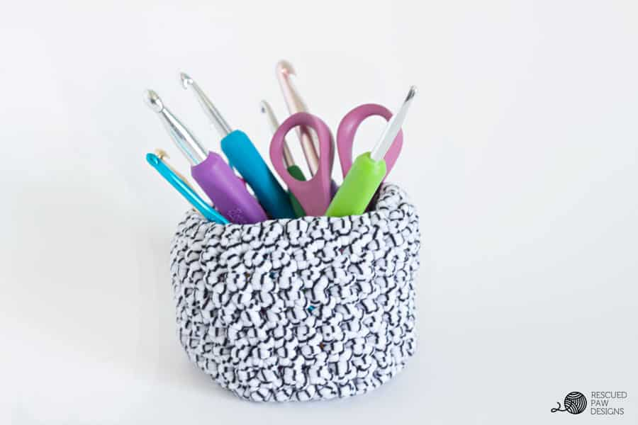 Crochet Hooks in Basket