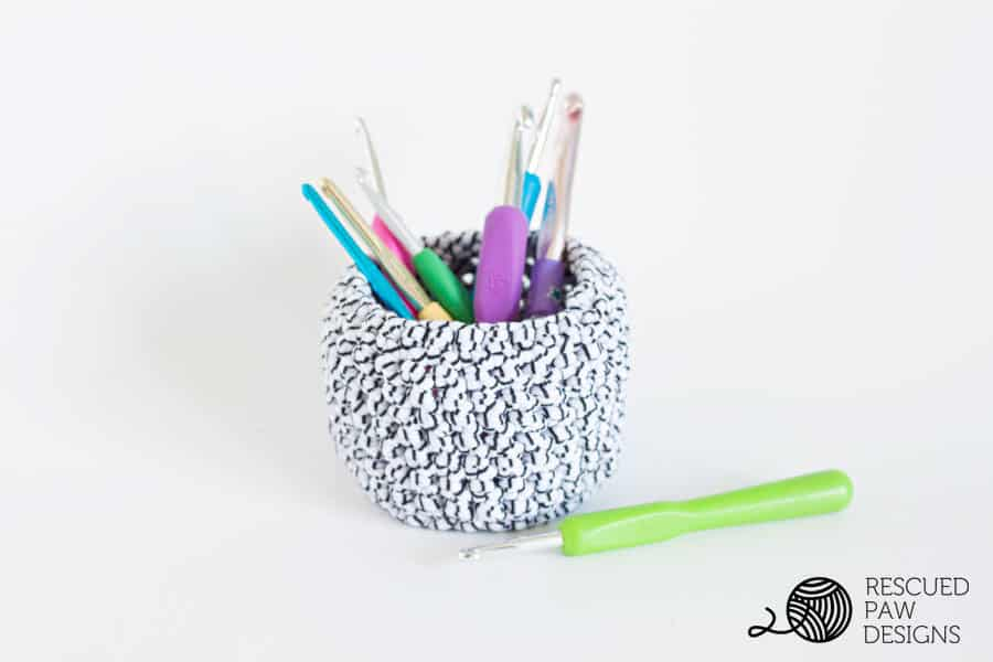 mini basket crochet pattern by Rescued Paw Designs Crochet Patterns
