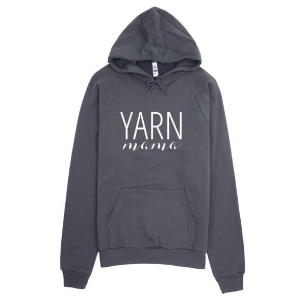 Yarn Mama Vintage Feel Hoodie by Yarn Mamas - Gifts Crocheters & Knitters will love www.yarnmamas.com