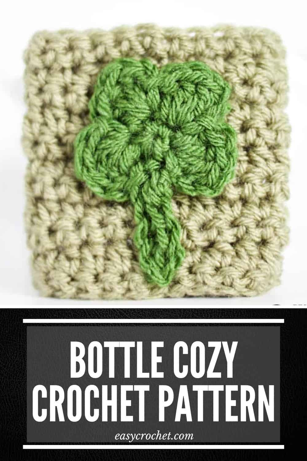 Crochet Shamrock Cozy Pattern for St. Patrick's Day via @easycrochetcom