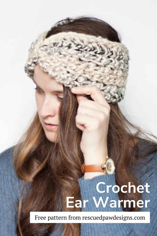 Make this simple Moonlight Crochet Ear Warmer today! via @rescuedpaw