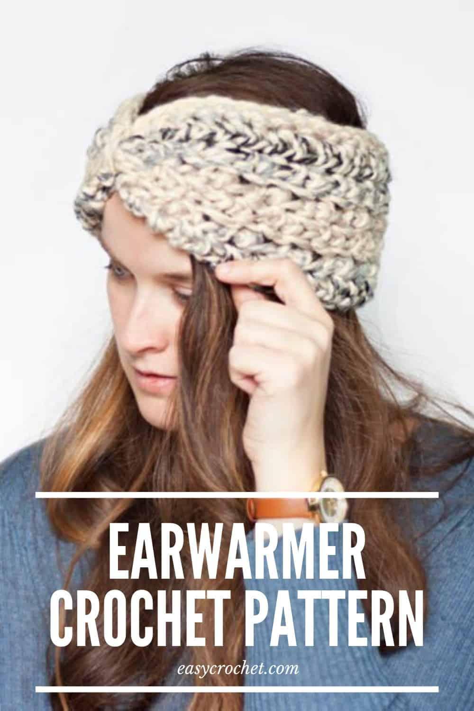 Free Earwarmer Crochet Pattern by Easy Crochet via @easycrochetcom