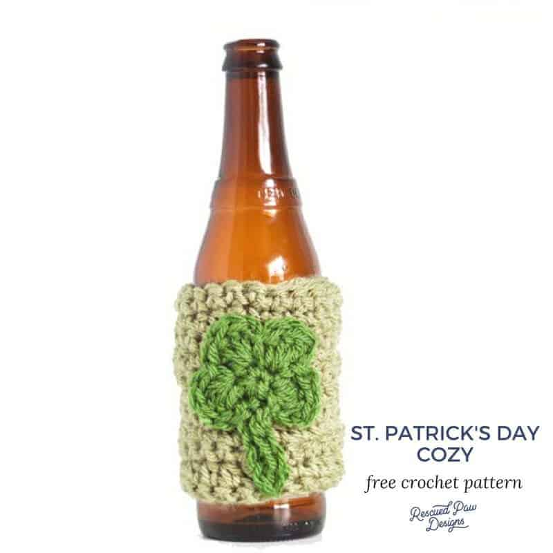 Shamrock Bottle Cozy St. Patrick's Day Crochet Pattern