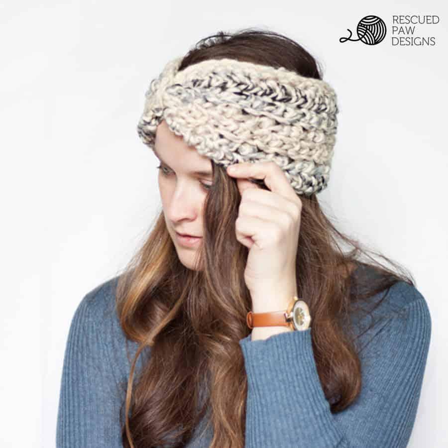 459a23639e2d Easy Crochet Ear Warmer Pattern - Rescued Paw Designs