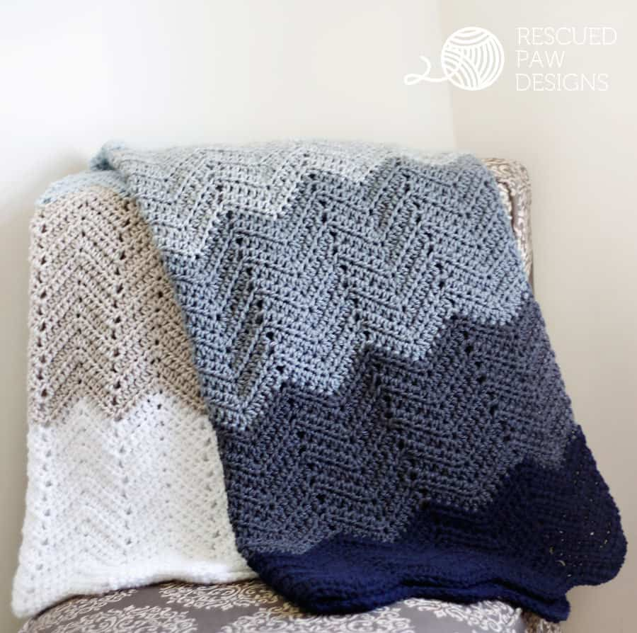 Ripple Crochet Blanket Pattern Free