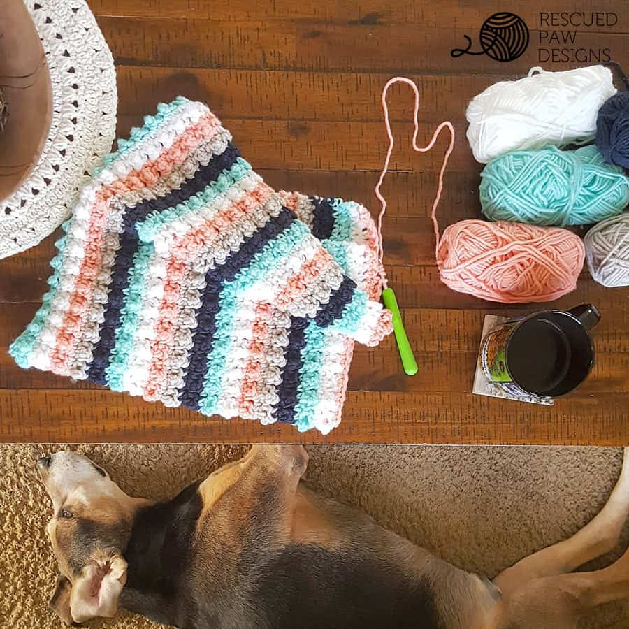 Ever So Striped Crochet Baby Blanket Pattern by Rescued Paw Designs | Click to Read or Pin and Save for Later!