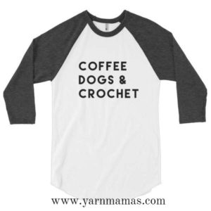 CoffeeDogsCrochetRaglan