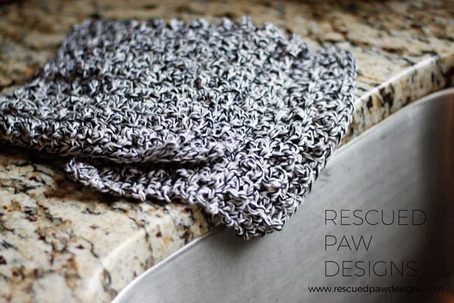 Farmhouse Dishcloth Crochet Pattern by Rescued Paw Designs | Click to Read or Pin and Save for Later!