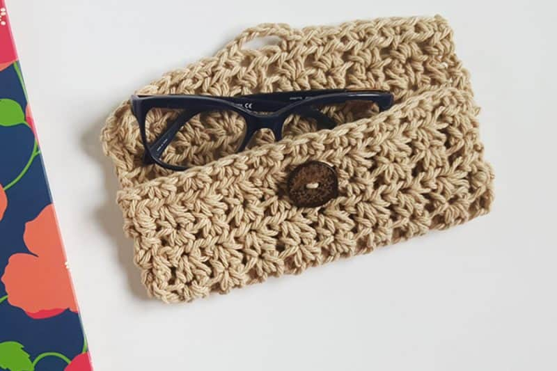 Free Crochet Pattern Eyeglass Case : Glasses Case Crochet Pattern - Rescued Paw Designs