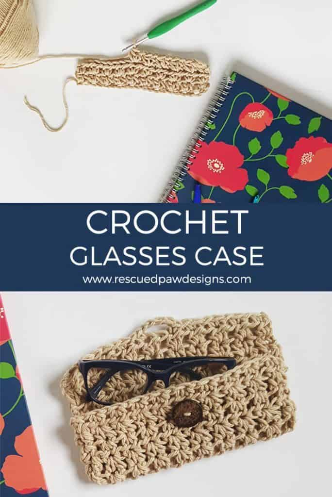 crochet eye glasses holder