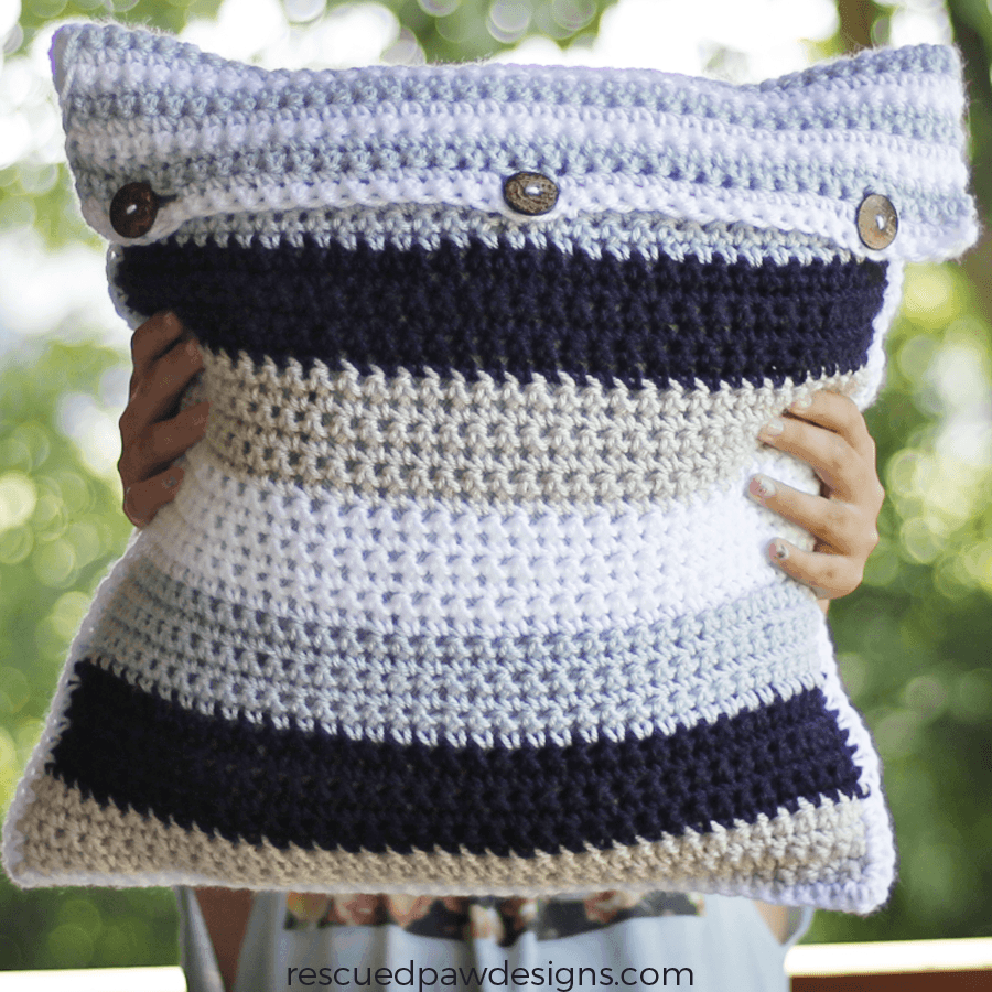 Striped Pillow Crochet Pattern