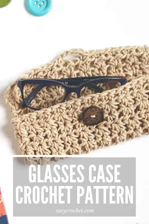 Crochet Glasses Case Pattern - Free Crochet Pattern from Easy Crochet via @easycrochetcom