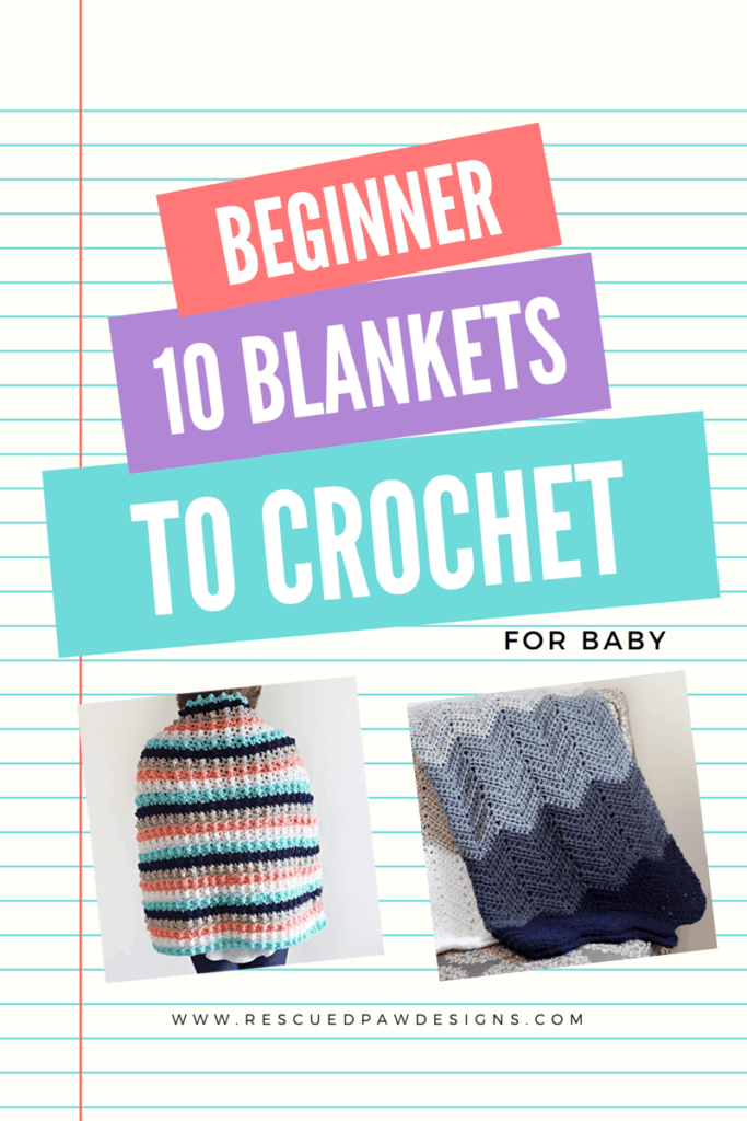 10 Blankets to Crochet for a Baby Shower or as a gift by Easy Crochet. Click to Read or Pin and Save for Later!