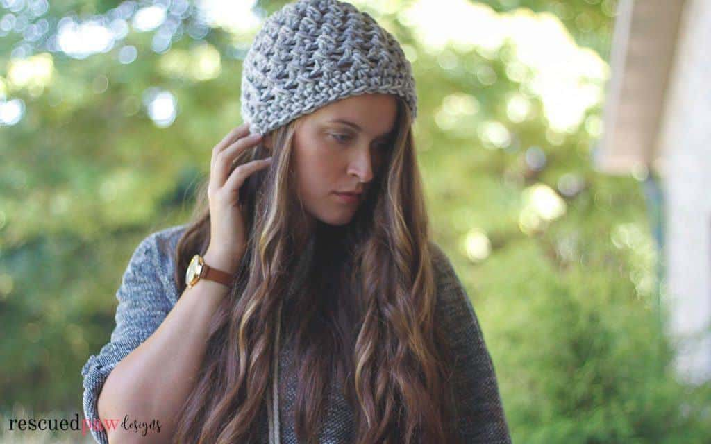 Elise Crochet Hat Pattern by Rescued Paw Designs. Click to Read or Pin and Save for Later. www.rescuedpawdesigns.com