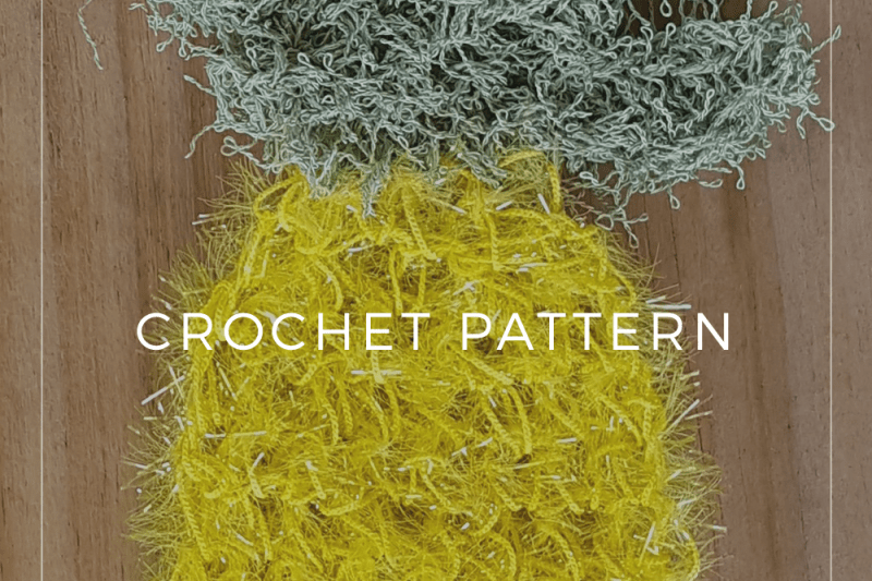 Crochet Pineapple Dish Scrubby