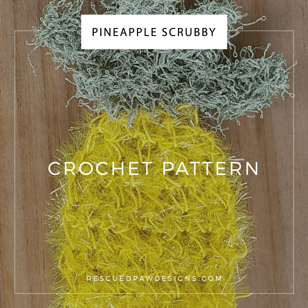 Pineapple Dish Scrubby Crochet Pattern