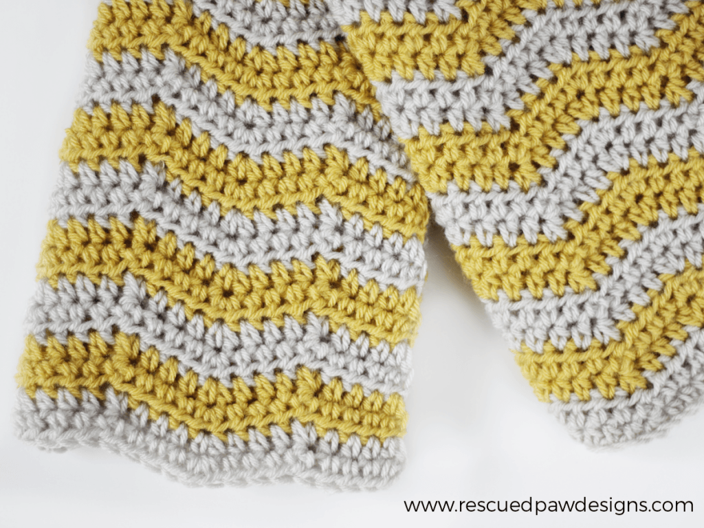Baby Ripple Crochet Blanket from Rescued Paw Designs. Click to Read or Pin and Save for Later! www.rescuedpawdesigns.com