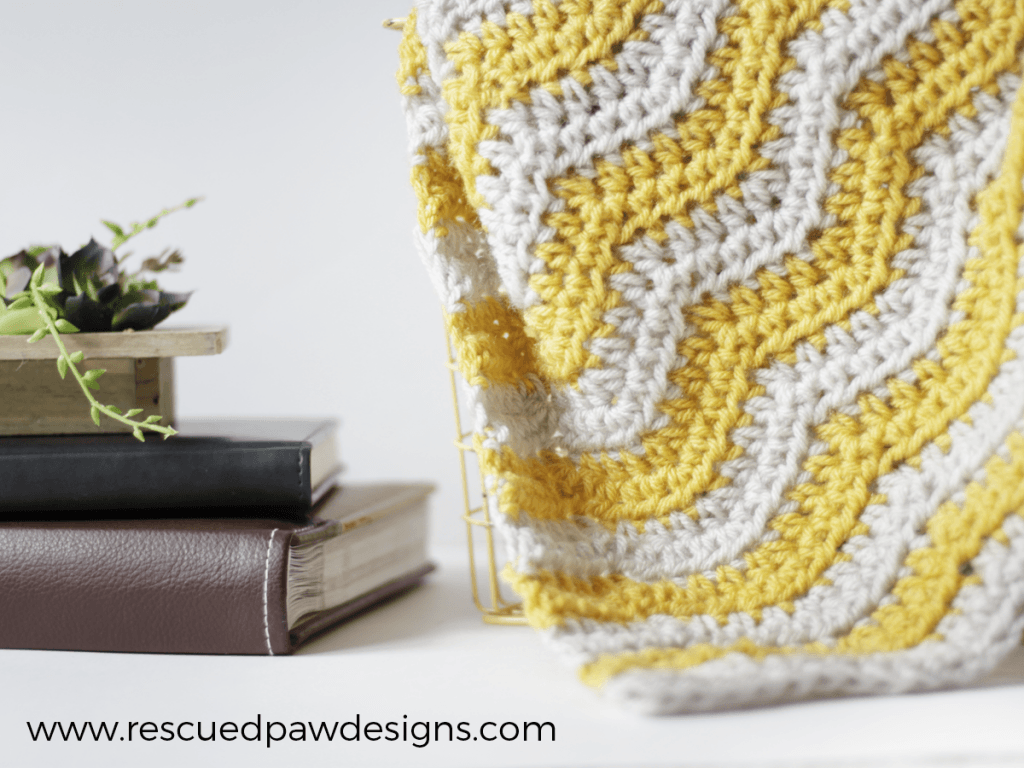 Baby Ripple Crochet Blanket Pattern Rescued Paw Designs