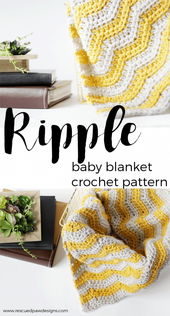 Ripple Baby Blanket Crochet Pattern