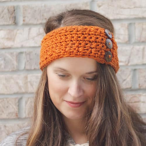 How to Crochet a Pumpkin Earwarmer