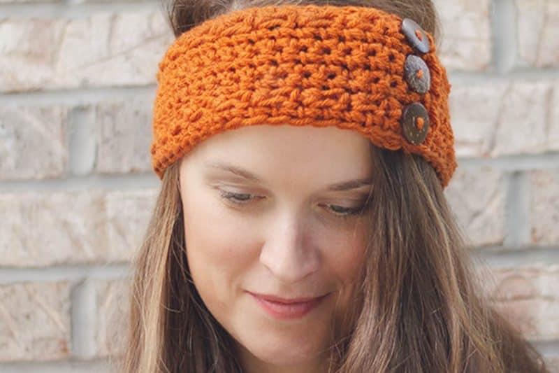 Pumpkin Latte Crochet Ear Warmer Pattern
