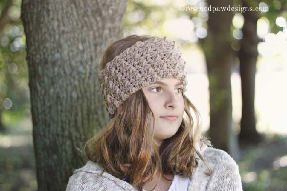 Dreaming Clouds Free Crochet Pattern by Rescued Paw Designs - Free Crochet Ear Warmer Pattern www.rescuedpawdesigns.com
