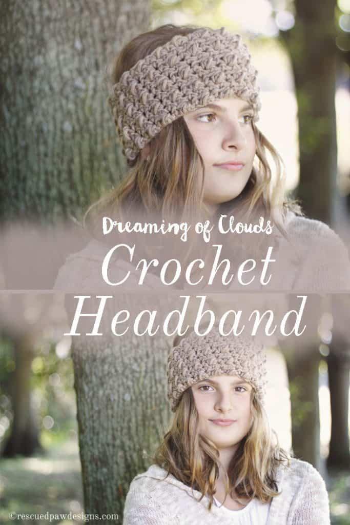 Crochet Headband Pattern - Free Crochet Pattern from RescuedPawDesigns www.rescuedpawdesigns.com